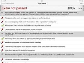 AnswerIT iPad App - Exam results